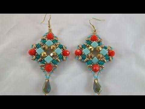 Tutorial orecchini con le SILKY BEADS summer dream / Tutorial summer dream earrings - YouTube