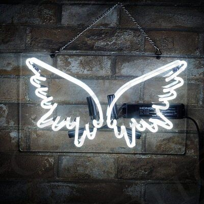 Neon SIgn Light Wing Shape Pub Night Club Hair Saloon Bistro Patio Restaurant