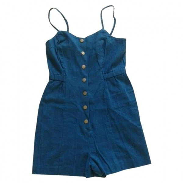 Blue Cloth Shorts URBAN OUTFITTERS (350 CNY) ❤ liked on Polyvore featuring jumpsuits, rompers, dresses, tops, playsuits, blue romper, summer romper, blue rompers, playsuit romper and summer rompers