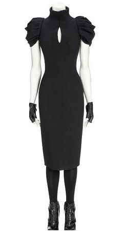 Alexander Mcqueen Black Victorian Tailored Dress