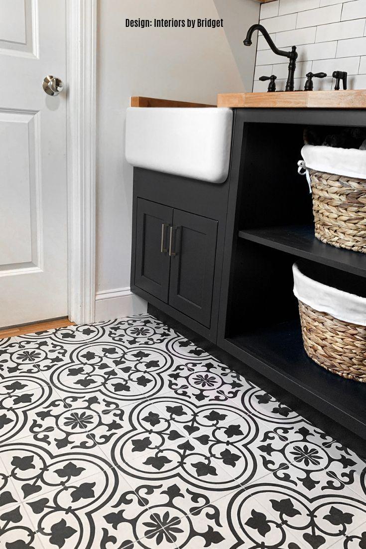 9x9 Room Design: Cascais White Ornate 9x9 Matte Porcelain Tile