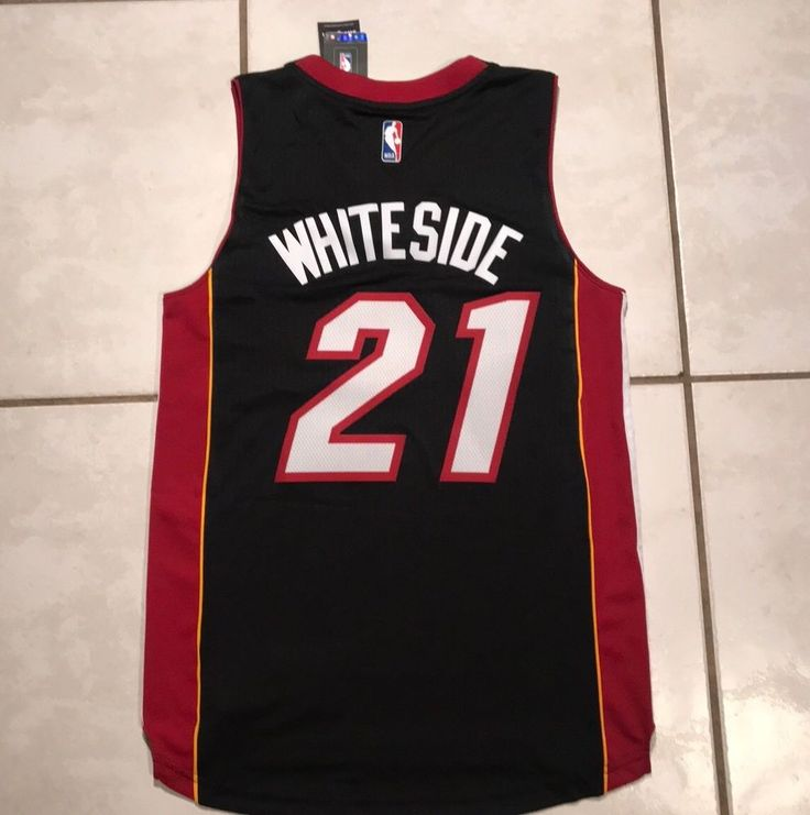 e170307d7 ... nike black swingman jersey icon edition NWT ADIDAS SWINGMAN Miami Heat  Hassan Whiteside BLACK NBA Jersey Mens Small ...