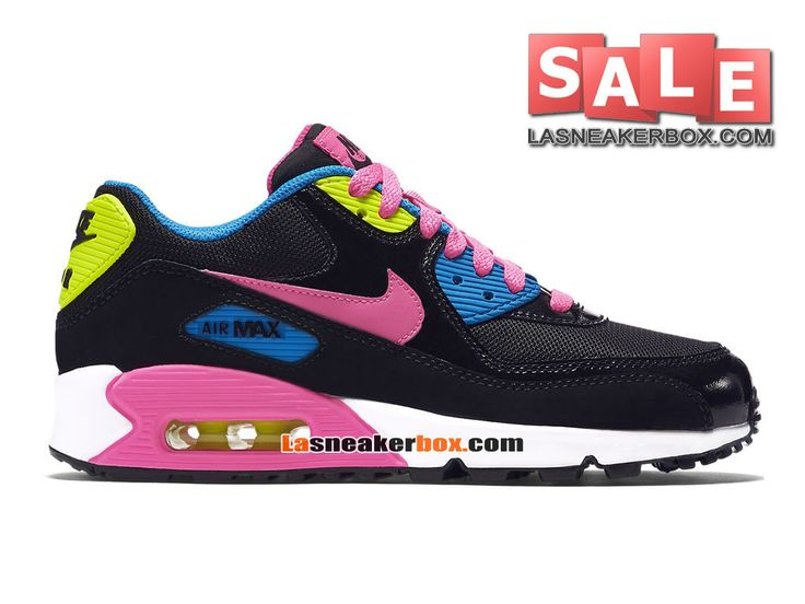 nike air max 90 youth gs chaussures noir rose gris