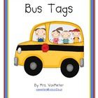 Bus tags are used to keep students safe to and from school.  Our kindergarten teachers use them during the first few weeks of school to reduce conf...
