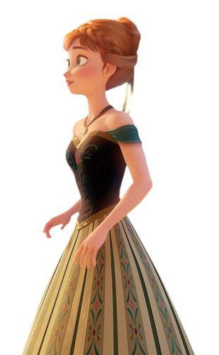 Anna in her green dress - frozen Photo