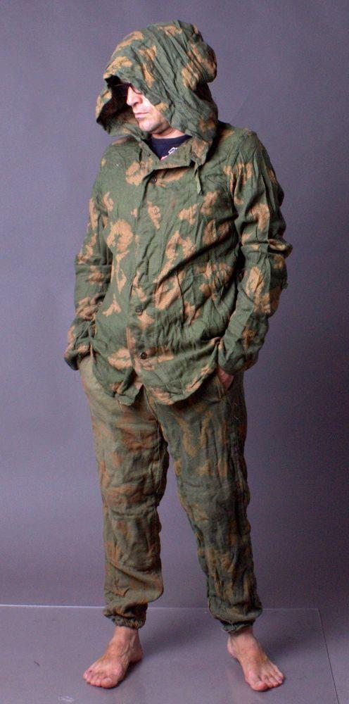 80s New Vintage USSR MILITARY BDU Kzs Soviet Army Soldier Uniform Camo Suit Sz 2 #madeinussr