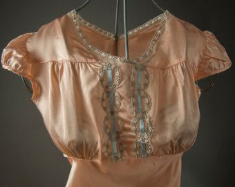 Vintage 40's Lingerie,Vintage  Satin Dress,Satin Lingerie Summer Dress
