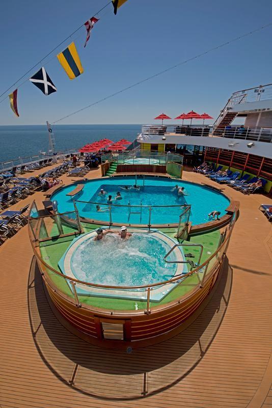 Honeymoon hot tub on a Caribbean cruise