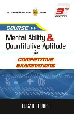 Course In Mental Ability & Quantitative Aptitude For Competitive Examinations  Paper Back
