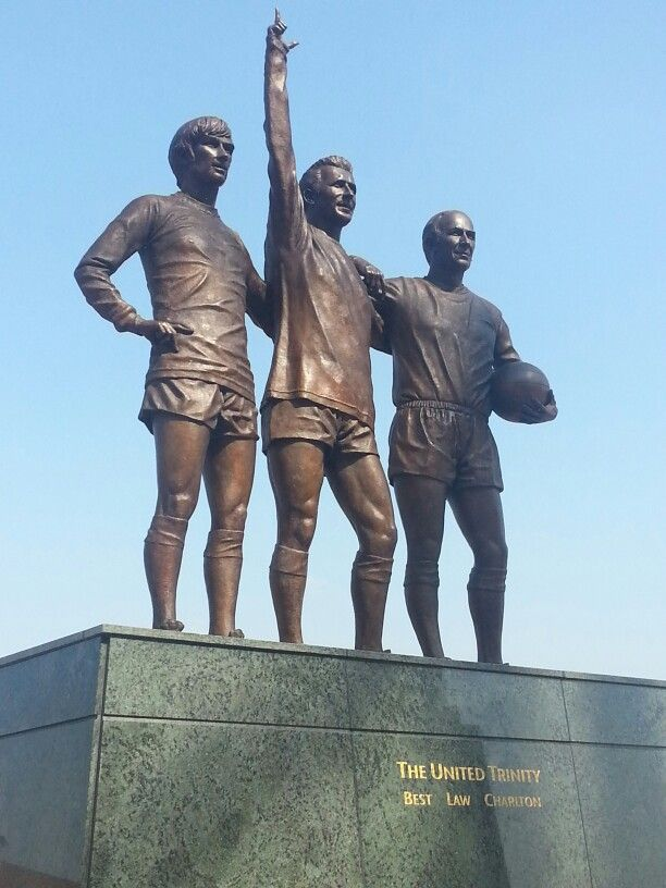 The United Trinity - George Best, Denis Law, and Bobby Charlton - #ManchesterUnited #OldTrafford
