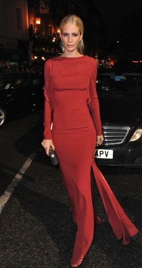Poppy Delevingne in Escada, at the 2012 BAFTA Awards.