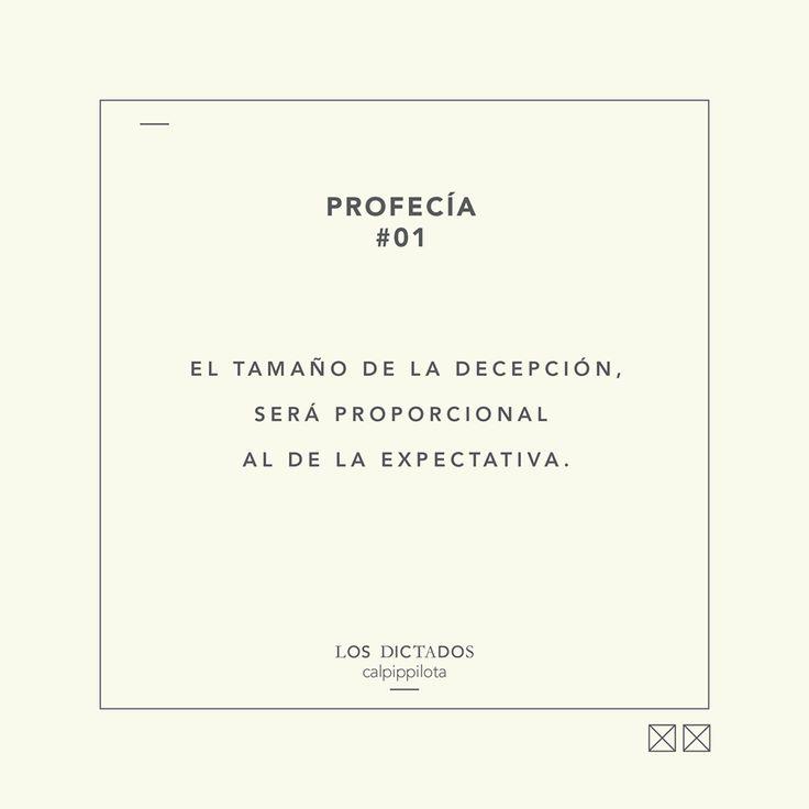 Profecia# Los dictados