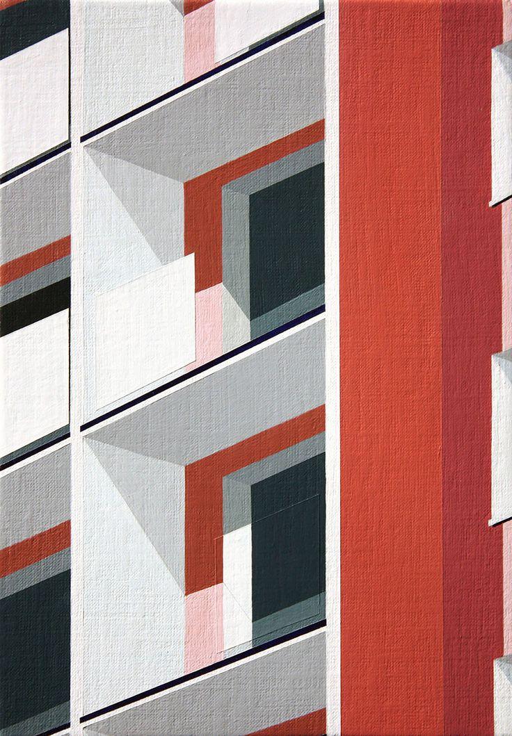 La arquitectura moderna representada por la artista Roos van Dijk.   + + + +           — ROOS VAN DIJK   vía booooooom