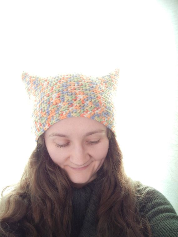 Rainbow hat, funky hat, crochet funky hat, multicolour hat, crochet hat, warm hat, hippie hat, hipster hat