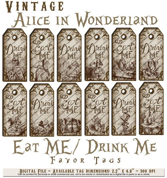 Templates for alice in wonderland alice in wonderland for Alice in wonderland tags template