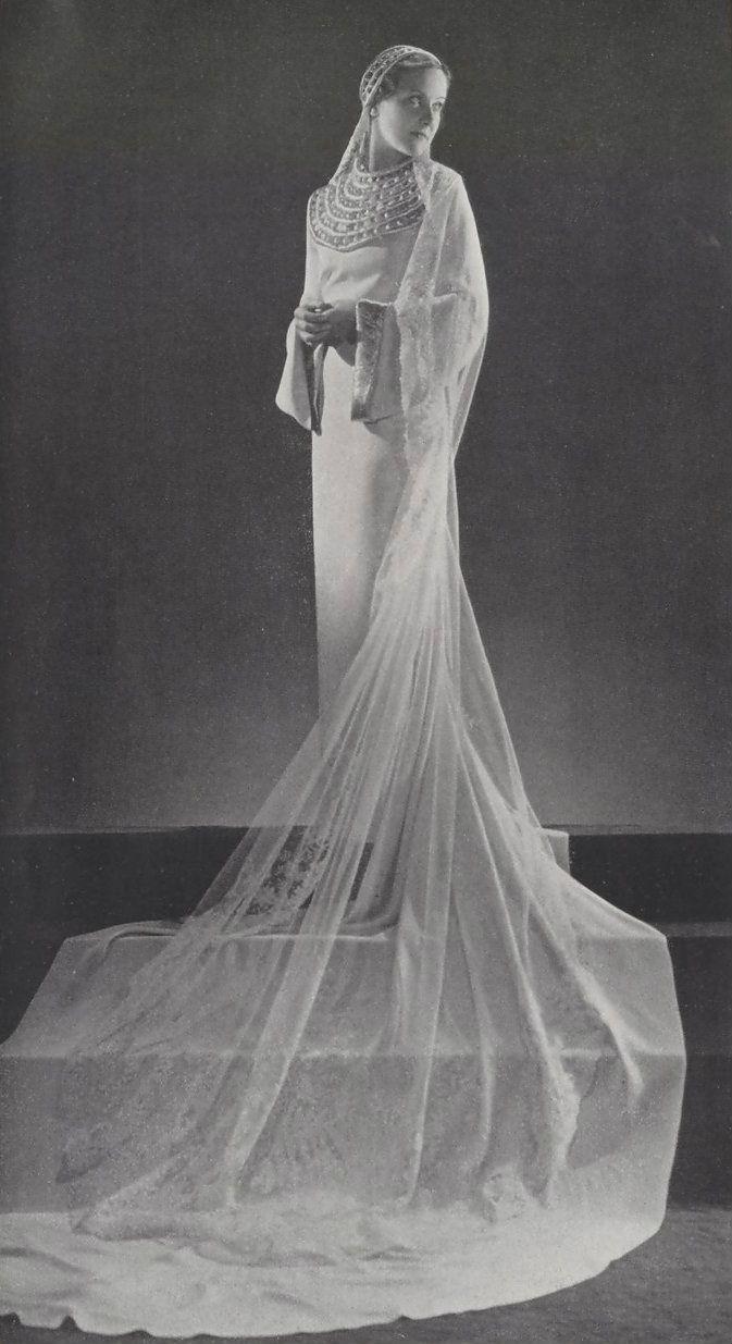 1930 wedding dress  Wedding dress by Paquin   us wedding fashions  Pinterest