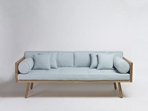 Elegant, light blue, framed