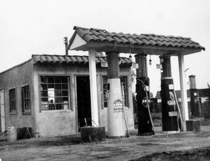1930s Gas Stations | ca. 1930)^ - One of the first gas stations on a lot on Imperial St ...