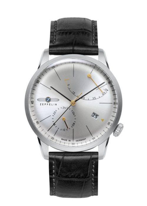 Luxusní pánské hodinky z kolekce Flatline, které na první pohled zaujmou nejen atypickým pohledem do srdce hodinek skrz ciferník, ale i mimost...   Zeppelin Flatline 7366-4
