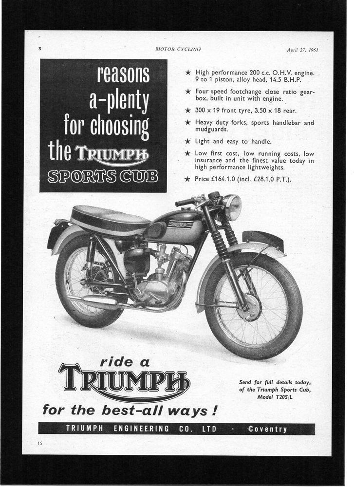 129 best images about Classic Motorcycle Magazine Adverts on ...
