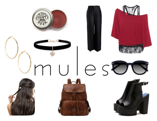 """""""Slip 'Em On: Mules"""" by gothicvamperstein on Polyvore featuring Joseph, Ace, ASOS, Betsey Johnson, GUESS by Marciano and mules"""