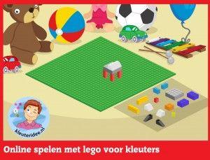 Online legospel voor kleuters, spelen op het digibord of op de computer,kleuteridee / Kindergarten online block area for IBW or computer