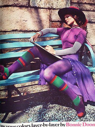 layers of the colour purple #vintage #1970s