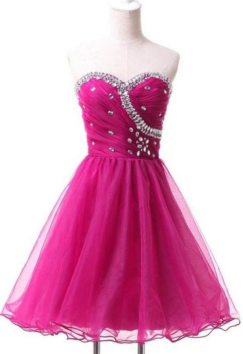 Fuchsia Homecoming Dresses, Short Homecoming Dresses, Charming Sparkly Cute Sweetheart Beading Homecoming Dresses WF01-219, Homecoming Dresses, Cute Dresses, Short Dresses, Sparkly Dresses, Cute Homecoming Dresses, Fuchsia dresses, Cute Short Dresses, Sweetheart Dresses, Homecoming Dresses Short
