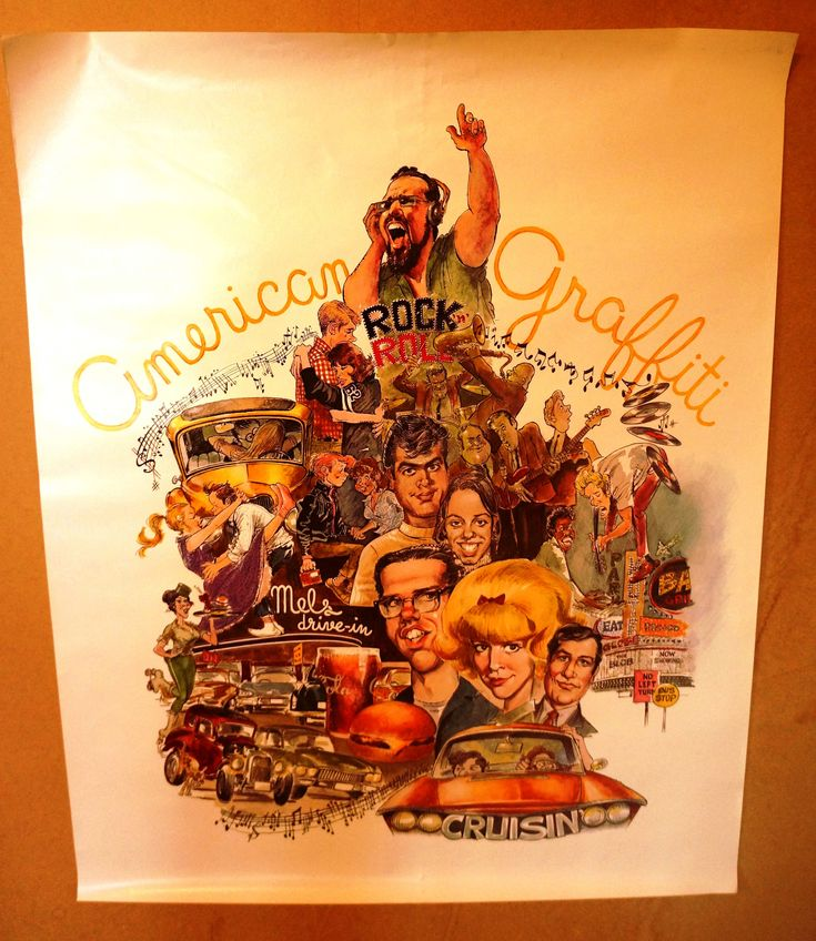 Excited to share the latest addition to my #etsy shop:  American Graffiti Original 1973 Promo Poster   Richard Dreyfuss, Ron Howard, Harrison Ford        http://etsy.me/2FaUYtN