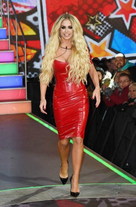 Bianca Gascoigne at the Celebrity Big Brother House in January 2017...