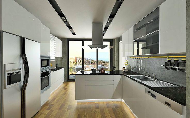 Türkiye'den siyah-beyaz mutfaklar! #türkiye #siyah #beyaz #mutfak #dekorasyon  https://www.homify.com.tr/yeni_fikirler/814402/tuerkiye-den-siyah-beyaz-mutfaklar