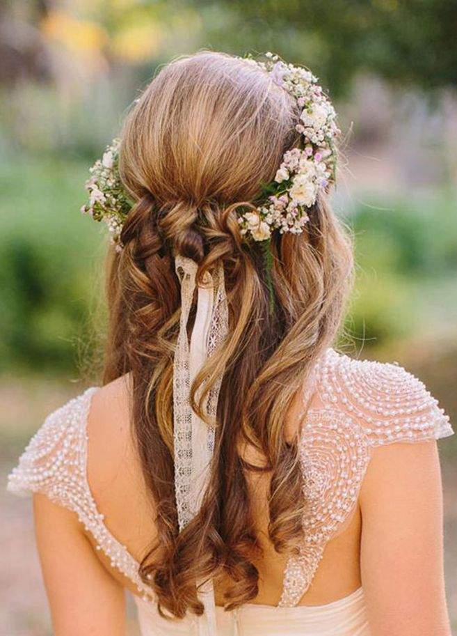 bridal hair trends for 2016 pinterest ethereal feminine and ribbon hairstyle