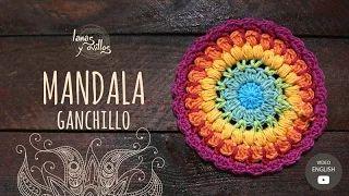 carpetas a crochet paso a paso en español - YouTube
