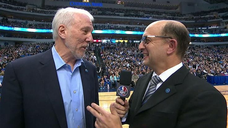 Gregg Popovich unhappy Jeff Van Gundy didn't ask him a second question during their interview after the first quarter.