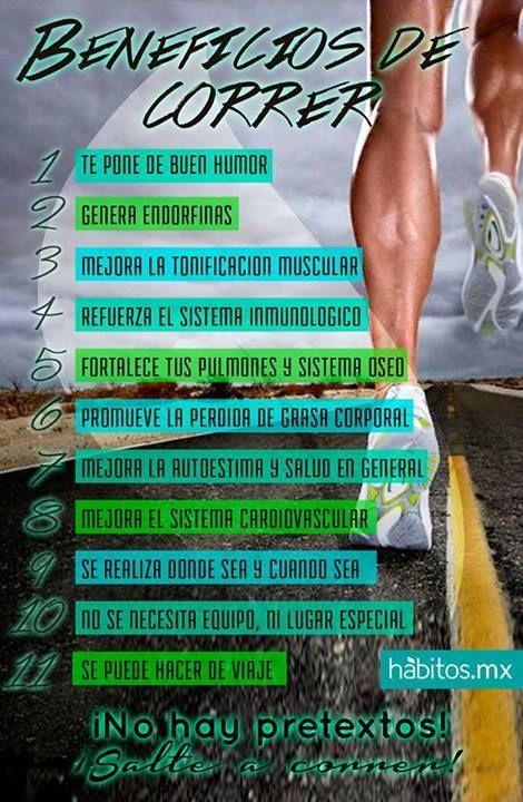 Los beneficios de correr #ejerciciofisico