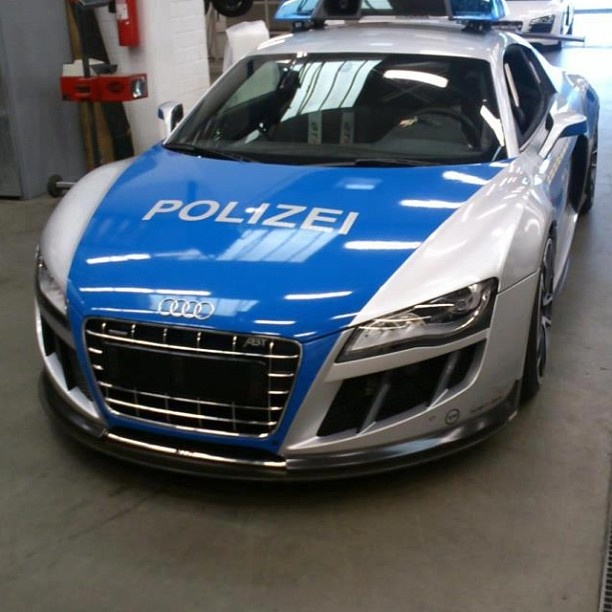 Try out running this Police car - #AudiR8