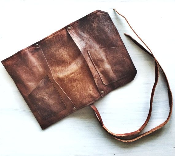 Leather Pipe Pouch The Standard Rusticated by SorringowlandSons