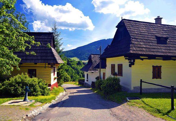 Vlkolínec Eslovaquia.