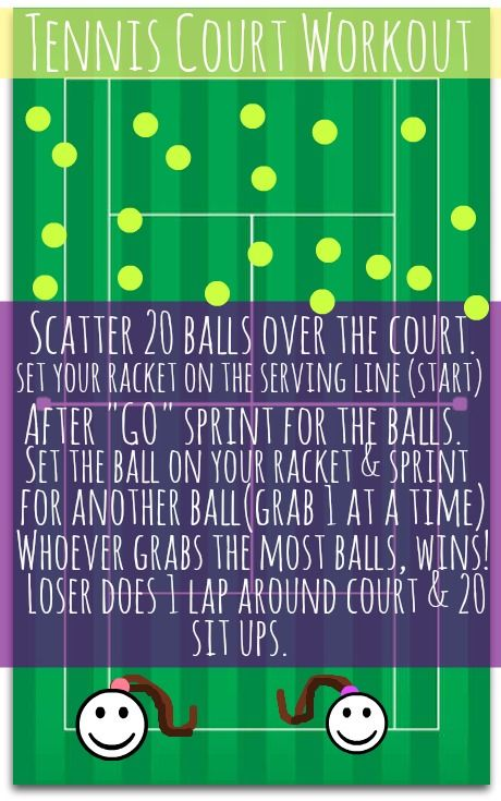 Tennis Work Out Game! Fun calorie burner!
