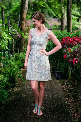 Courtyard Stroll Batik Dress | Knee length batik dress | Indonesia | shopgofish.com
