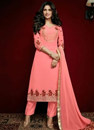 Pink Embroidery Stone Work Georgette Santoon Designer Pakistani Suit http://www.angelnx.com/Salwar-Kameez/Pakistani-Suits
