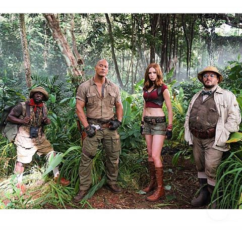We finally have our first look at the new Jumanji cast on set (and they look awesome!)