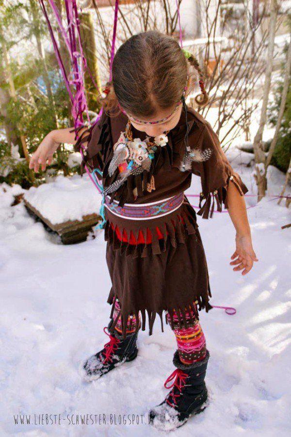 Faschingskostüm in 2 Stunden - DIY - Wowowow Indianer für Junge und Mädchen - Handmade Kultur
