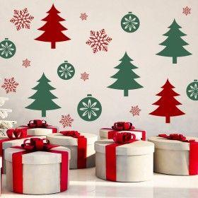 Vánoční dekorace na zeď - Vánoční les