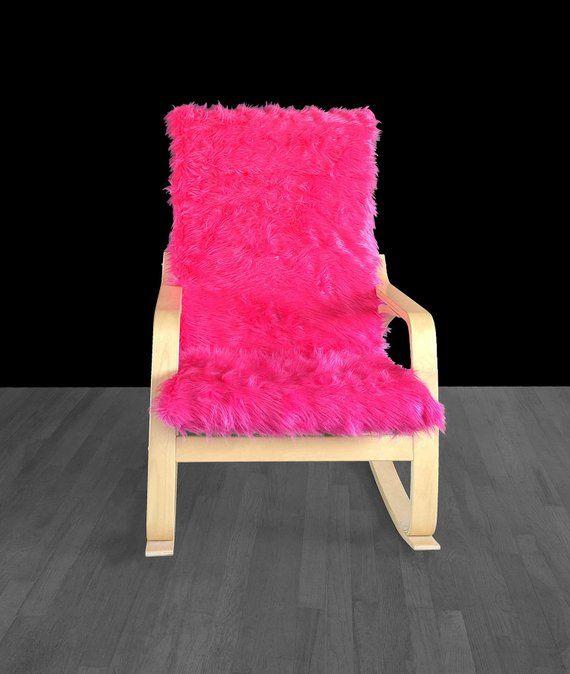 pink chair covers ikea floor gaming australia hot fur poang cushion slipcover custom cover