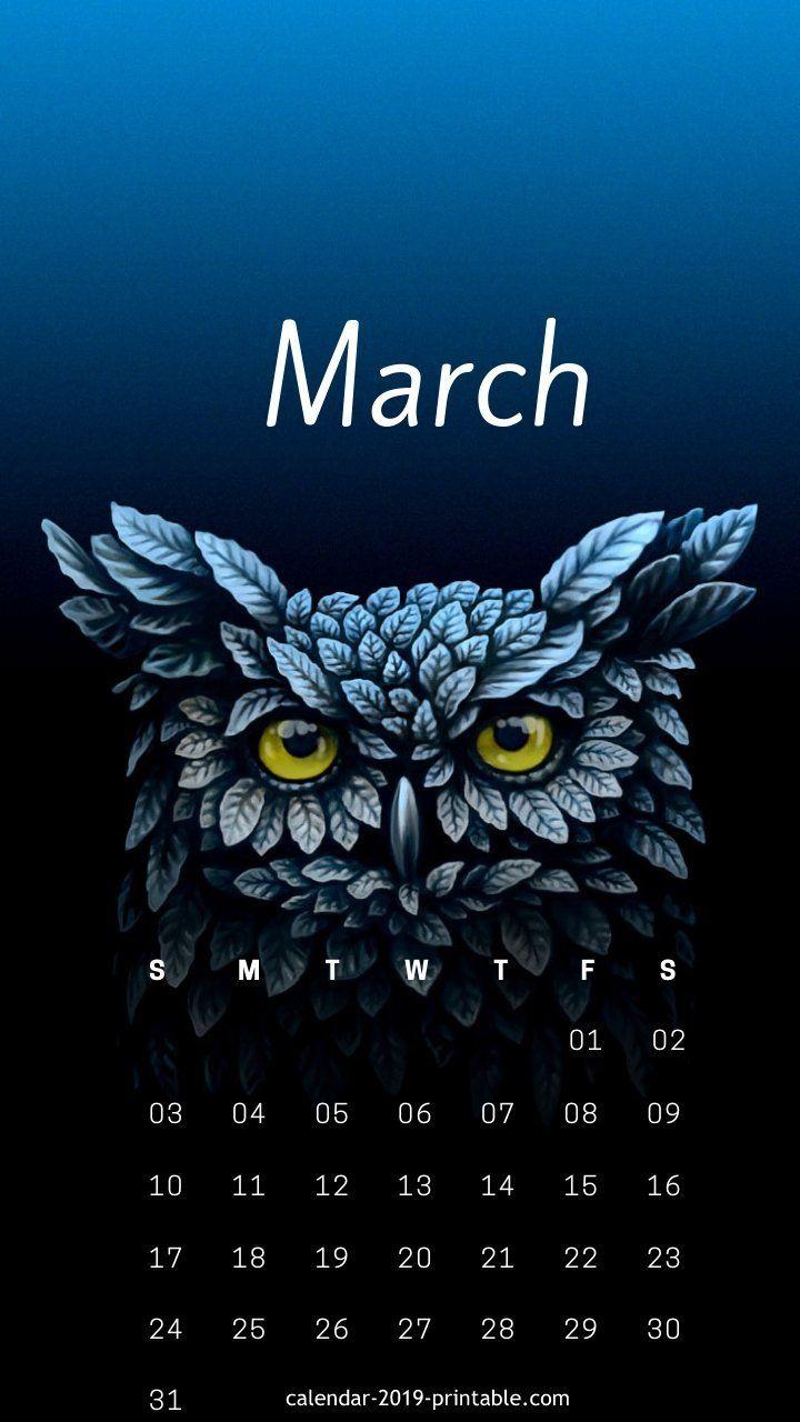March 2019 Iphone Cute Calendar カレンダー