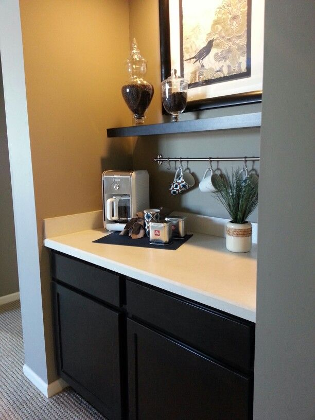 Coffee station in master amazing if you have a walk out for Closet bathroom suites
