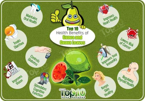 Top 10 Health Benefits of Guava and Guava Leaves