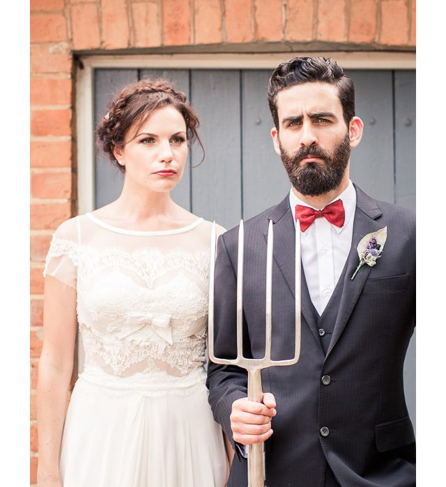 Inspired by American Gothic painting