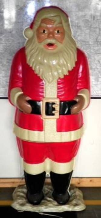 Vintage Polk Bros Life Sizeblow Mold Santa Claus 1963 L K